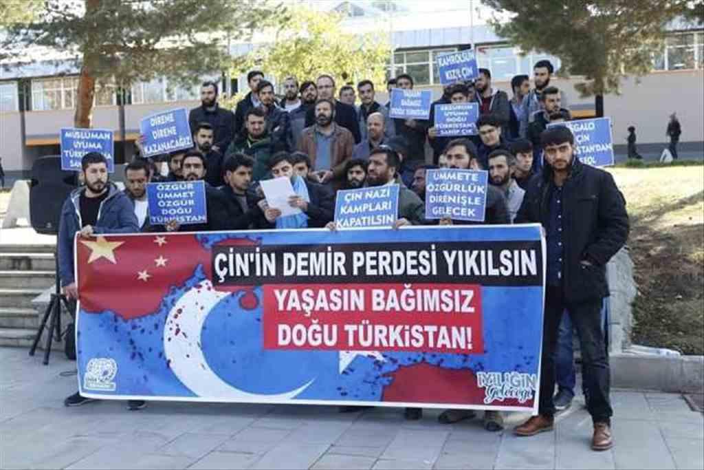 Çin Zulmü Erzurum'da Protesto Edildi